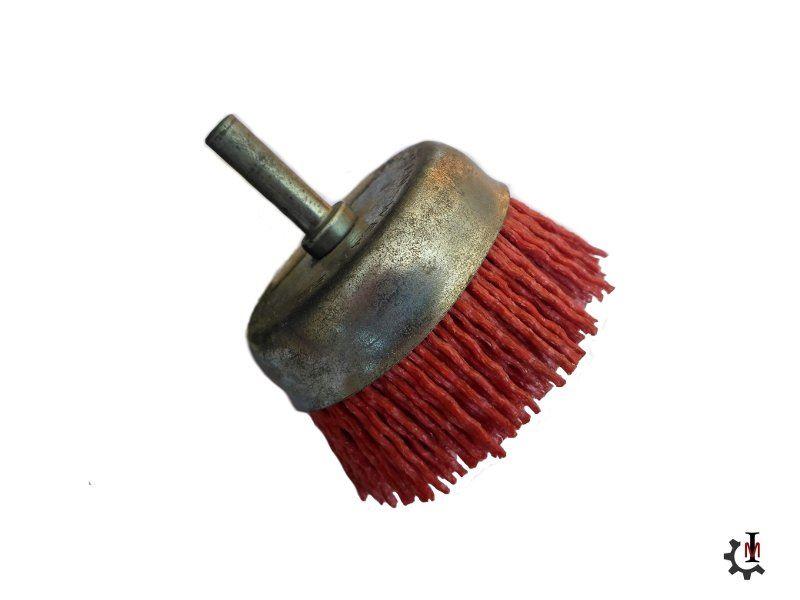 Copa zinc cepillo nylon abrasivo filamento para
